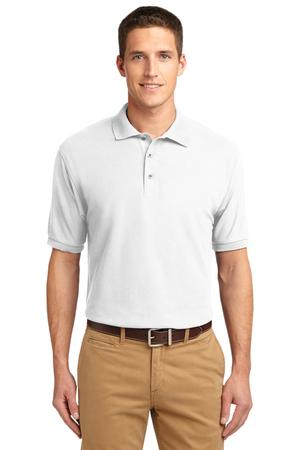 Embroidered Polo Mens White