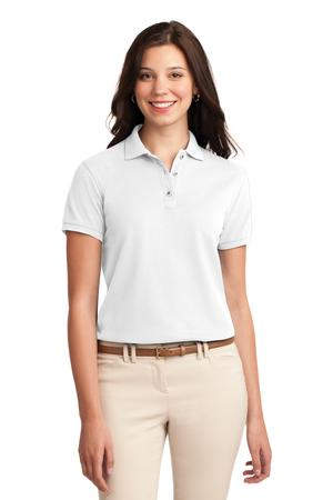 Embroidered Polo Womens White